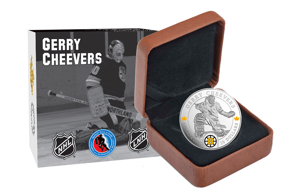 Buy 1/2 oz Silver NHL Goalie Coins: Gerry Cheevers, image 3