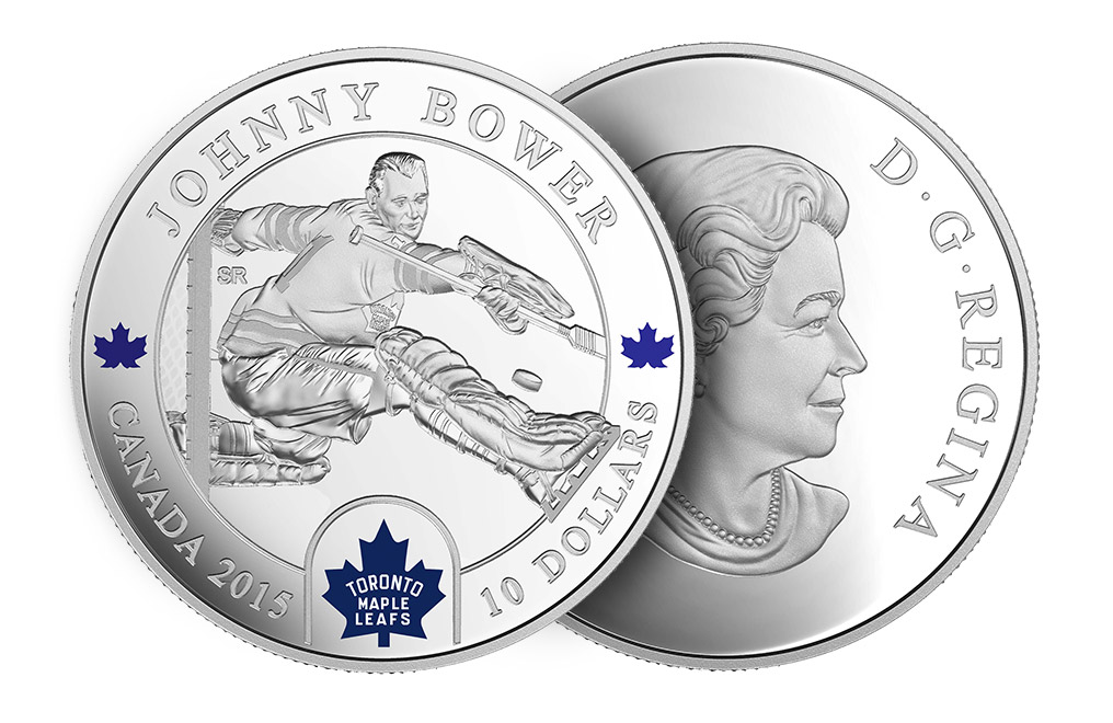 Buy 1/2 oz Silver NHL Goalie Coins: Johnny Bower, image 2