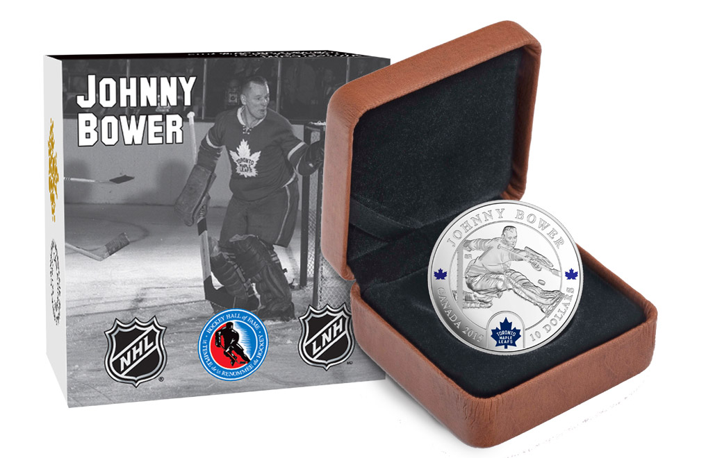 Buy 1/2 oz Silver NHL Goalie Coins: Johnny Bower, image 3