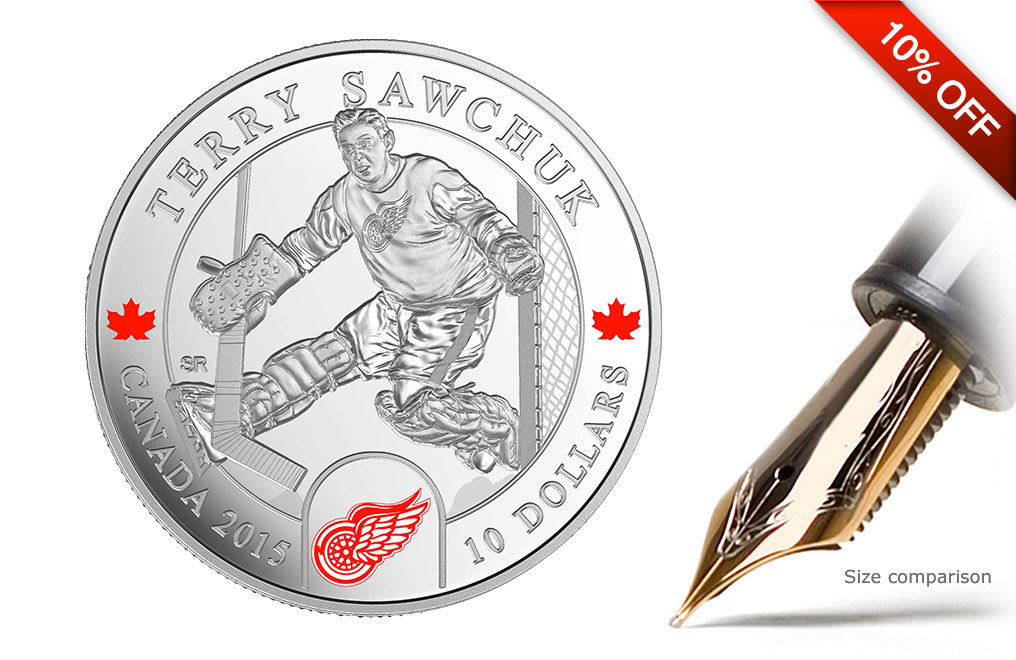 Buy 1/2 oz Silver NHL Goalie Coins: Terry Sawchuk, image 0