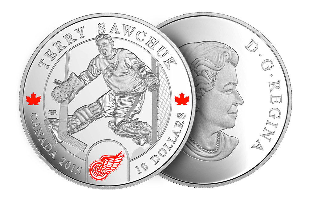 Buy 1/2 oz Silver NHL Goalie Coins: Terry Sawchuk, image 2