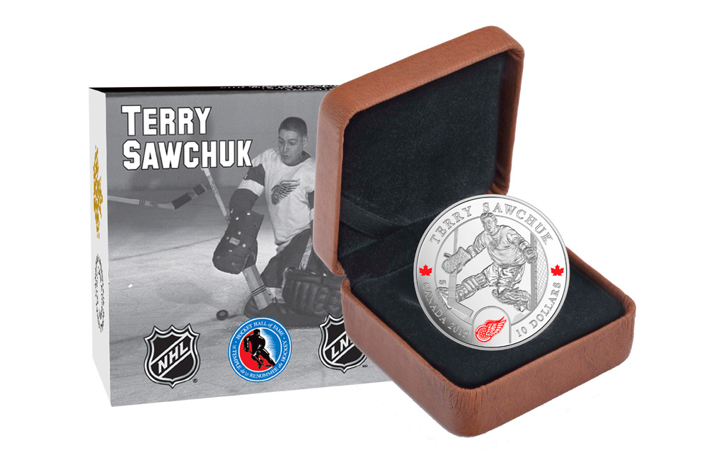 Buy 1/2 oz Silver NHL Goalie Coins: Terry Sawchuk, image 3