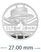 1/2 oz Silver Proof Music Legends Elton John Coin (2020)