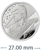 1/2 oz Silver Proof Coin  Music Legends David Bowie (2020)
