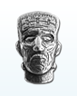 1.5 oz Silver Bar .999-3D Frankenstein Head - Antique Finish