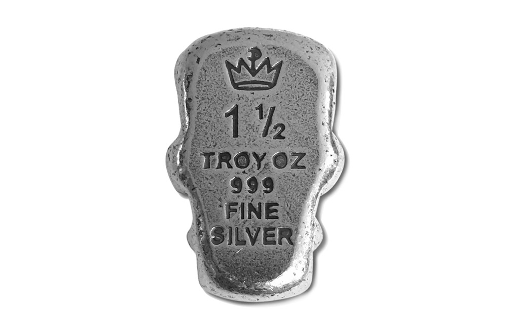 Buy 1.5 oz Silver Bar .999-3D Frankenstein Head - Antique Finish, image 1