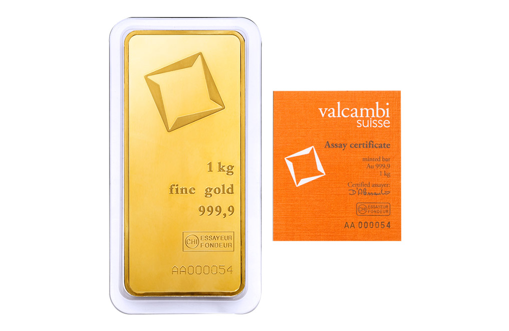 Buy Valcambi Suisse kilo Gold Bars, image 0