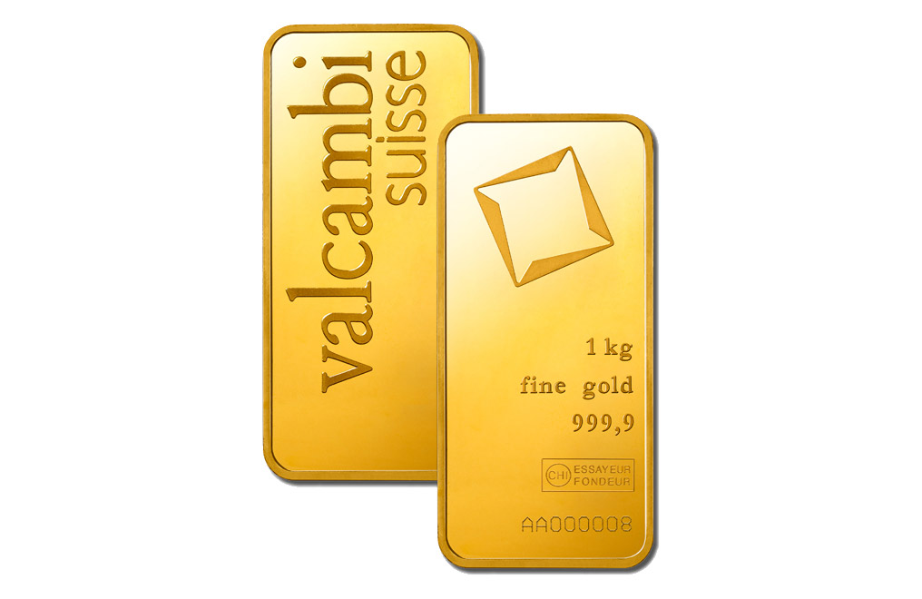 Buy Valcambi Suisse kilo Gold Bars, image 1
