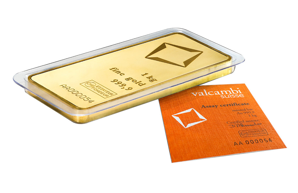 Buy Valcambi Suisse kilo Gold Bars, image 2
