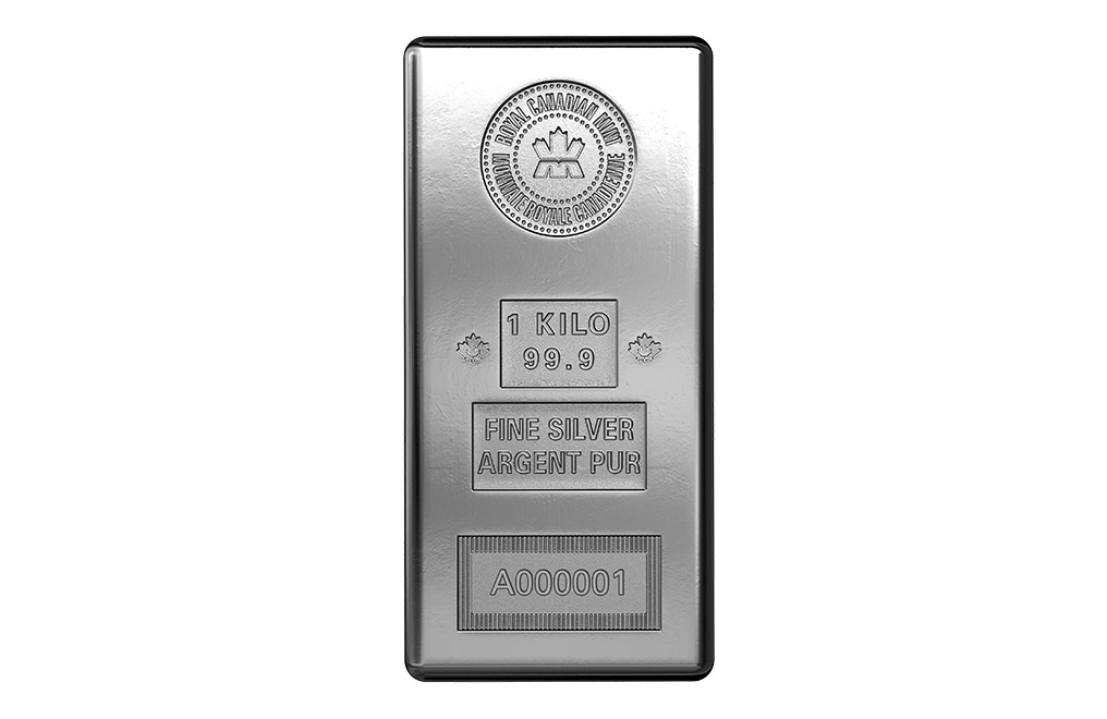 Buy Canadian 1 Kilo Silver Bars, image 0