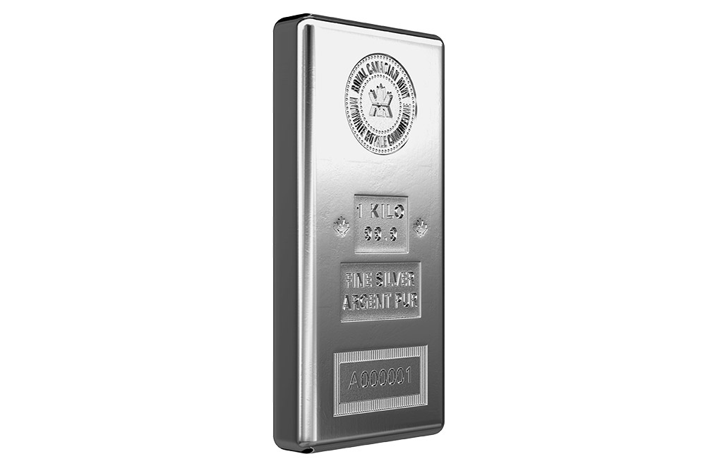 Buy Canadian 1 Kilo Silver Bars, image 1