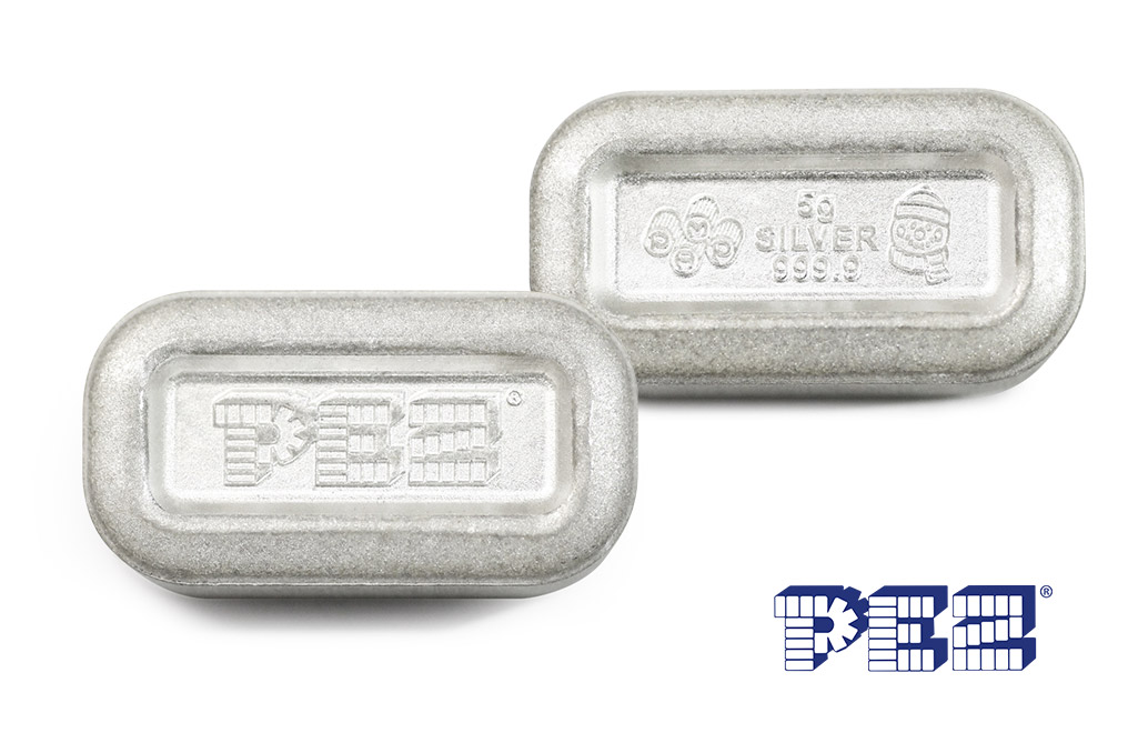Buy 1 oz (6 x 5g) Silver .9999 PEZ Wafers and Dispenser, image 3