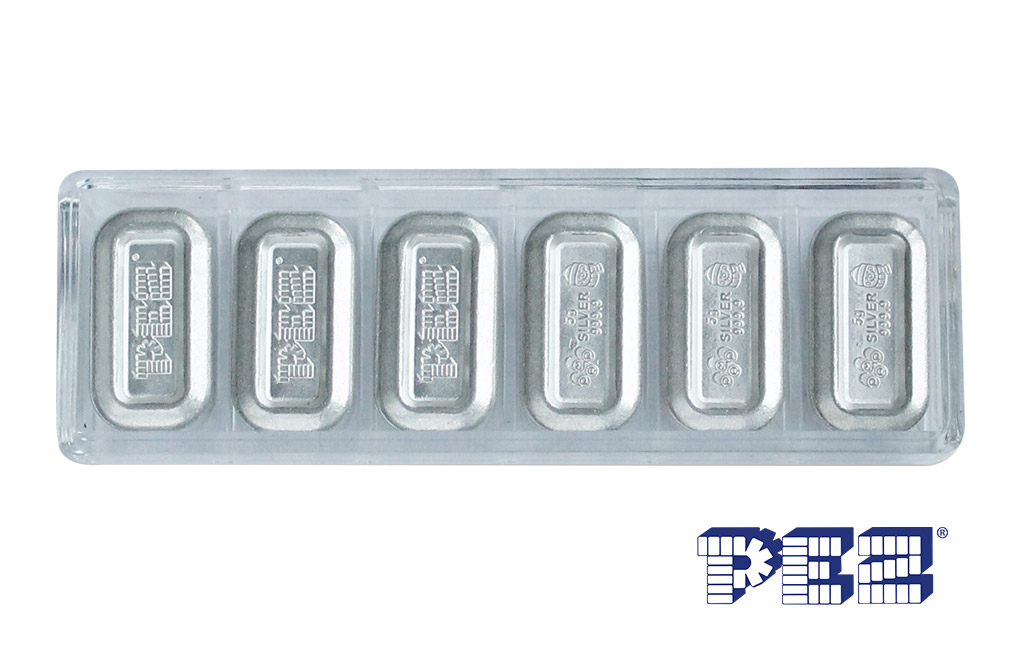 Buy 1 oz (6 x 5g) Silver .9999 PEZ Wafers and Dispenser, image 4