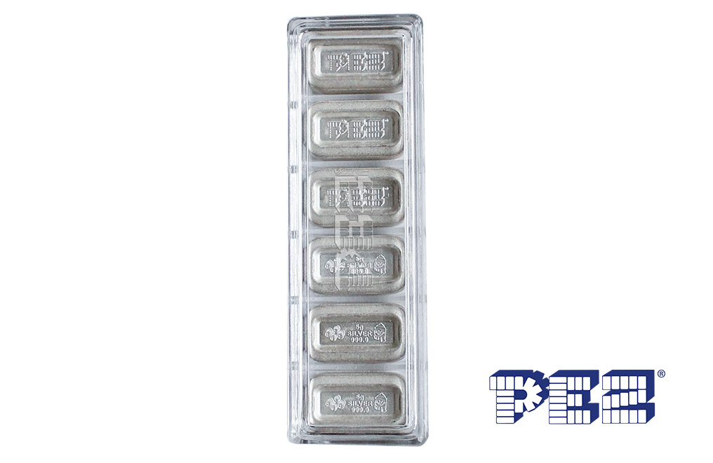 Buy 1 oz (6 x 5g) Silver .9999 PEZ Wafers and Dispenser, image 5