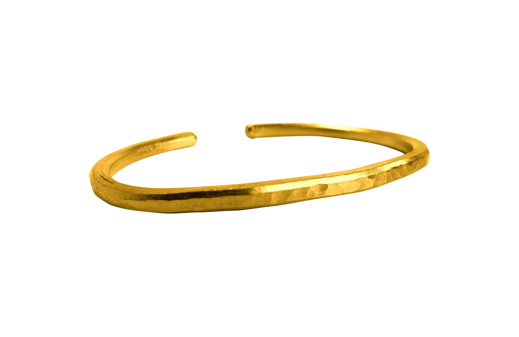 Buy 1 oz Hammered Gold Bullion Bracelet, image 0