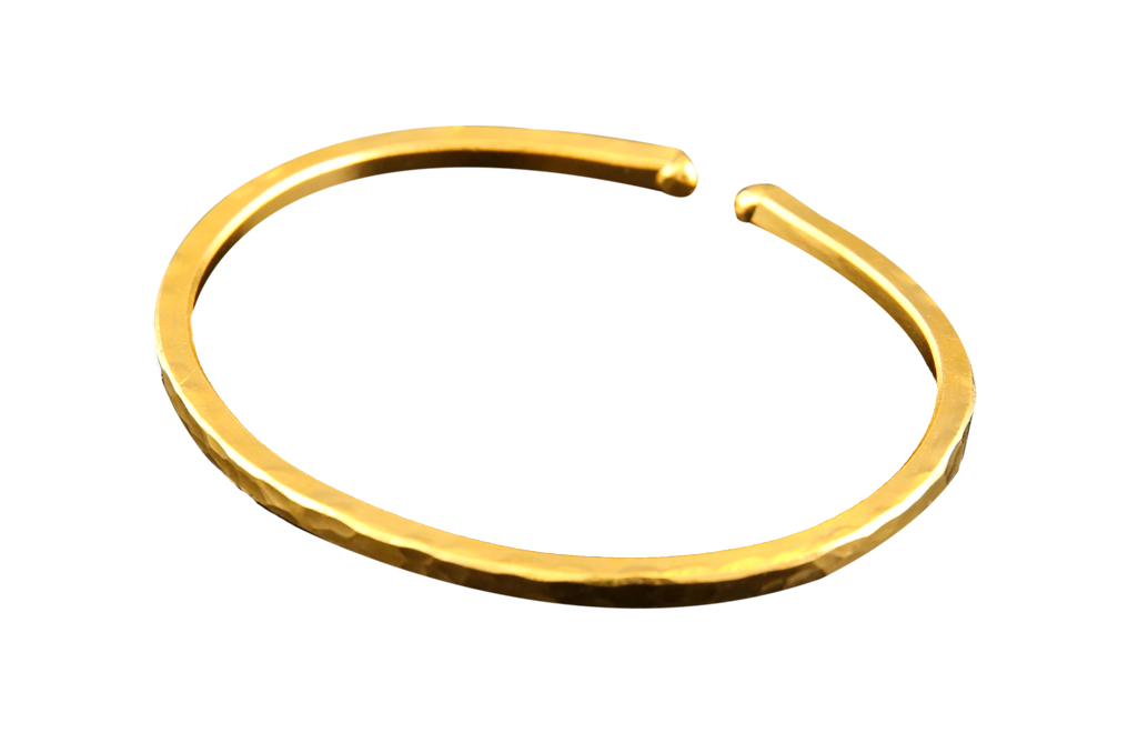 Buy 1 oz Hammered Gold Bullion Bracelet, image 3