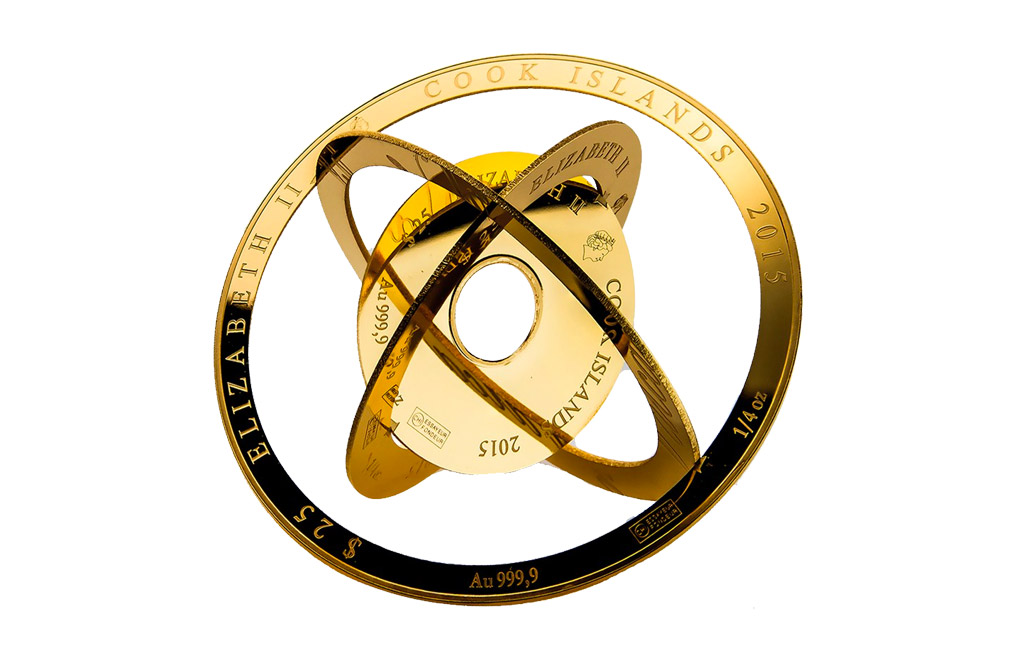 Buy 1 oz Cook Islands $100 Gold Armillary Coin .9999, image 0