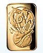 1 oz Gold Spiral of Life Bar