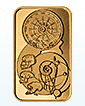 1 oz Gold Spiral Of Time Bar