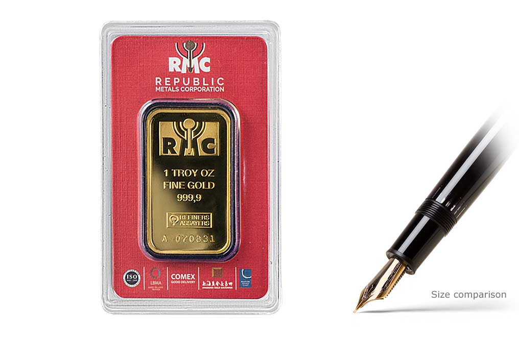 Sell 1 oz RMC Gold Bars (Red Certificate Only), image 0