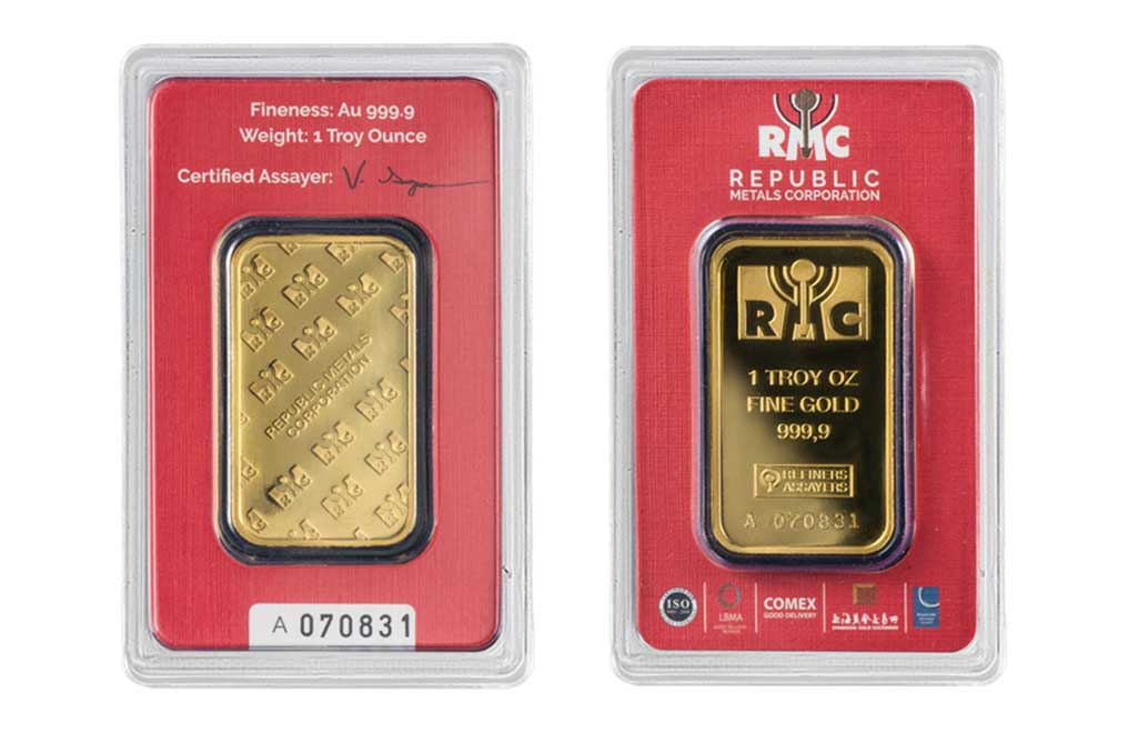 Sell 1 oz RMC Gold Bars (Red Certificate Only), image 4