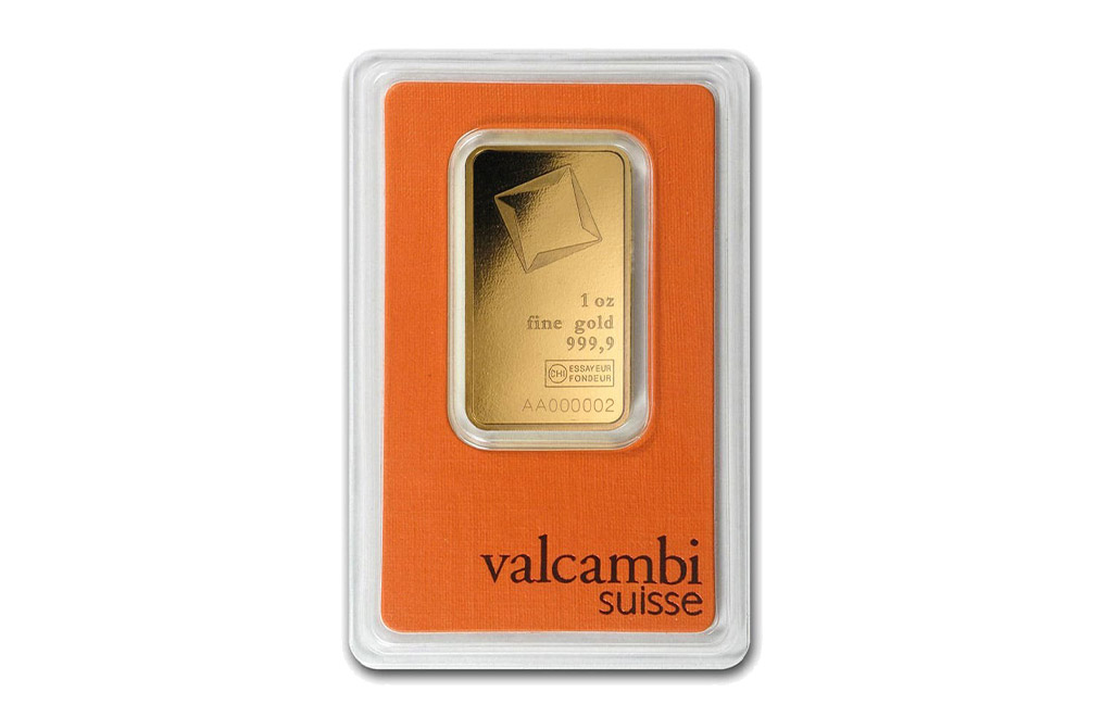 Sell Valcambi Suisse 1 oz Gold Bar, image 0