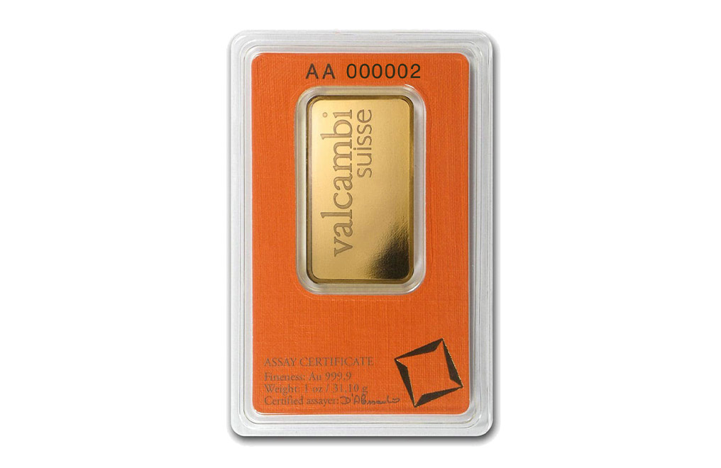 Sell Valcambi Suisse 1 oz Gold Bar, image 1