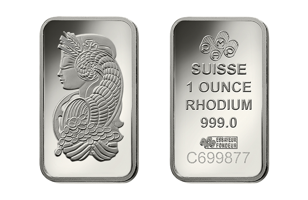 Buy 1 oz PAMP Suisse Lady Fortuna Rhodium Bars (Veriscan), image 3