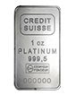 1 oz Platinum Credit Suisse Bar w/ certificate
