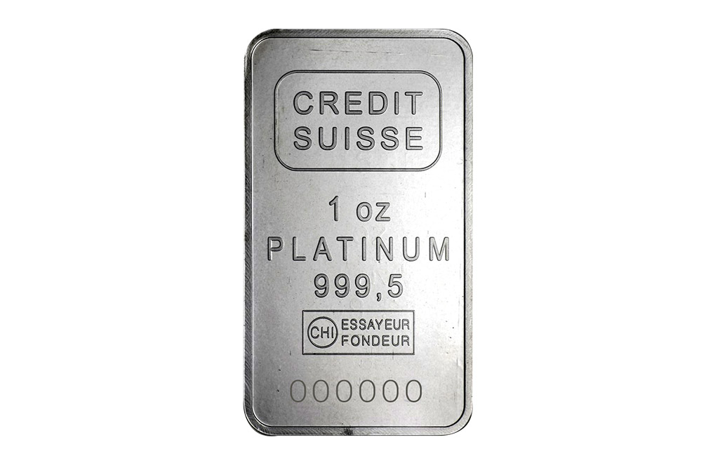 Buy 1 oz Platinum Credit Suisse Bars, image 0