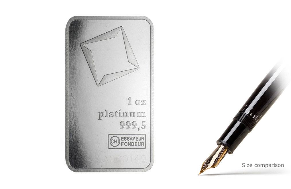 Buy 1 oz Platinum Valcambi Suisse Bars, image 3
