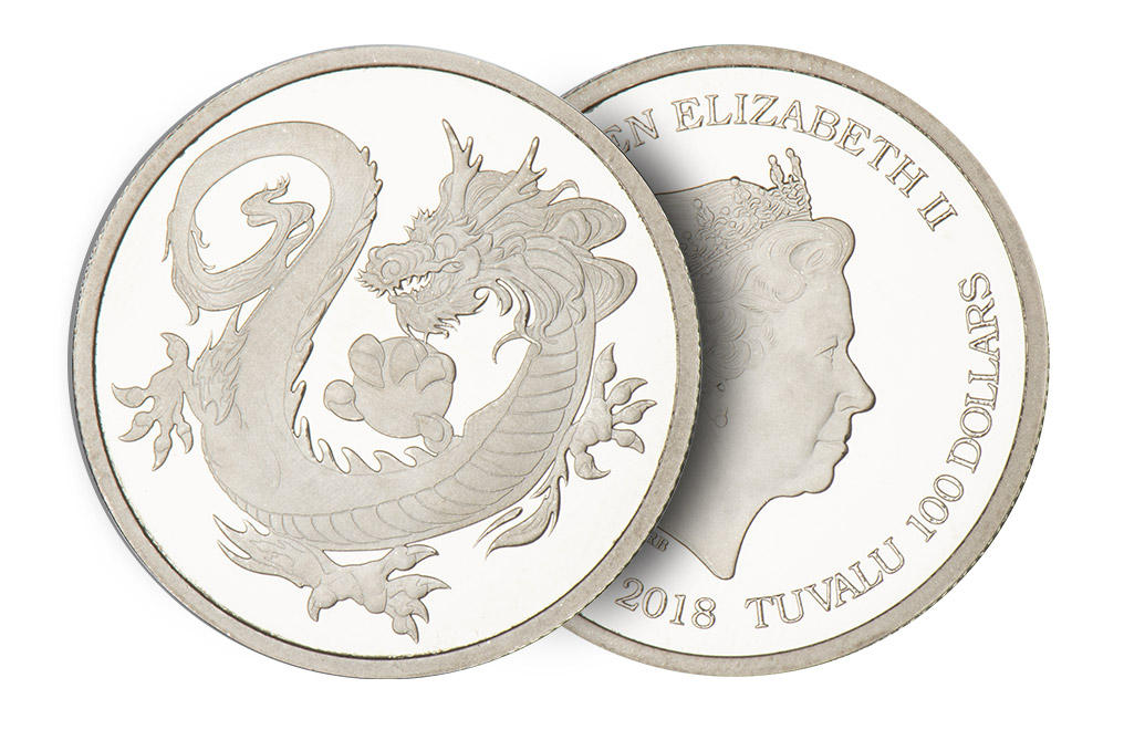 Buy 1 oz Rhodium Tuvalu South Sea Dragon Coin, image 2