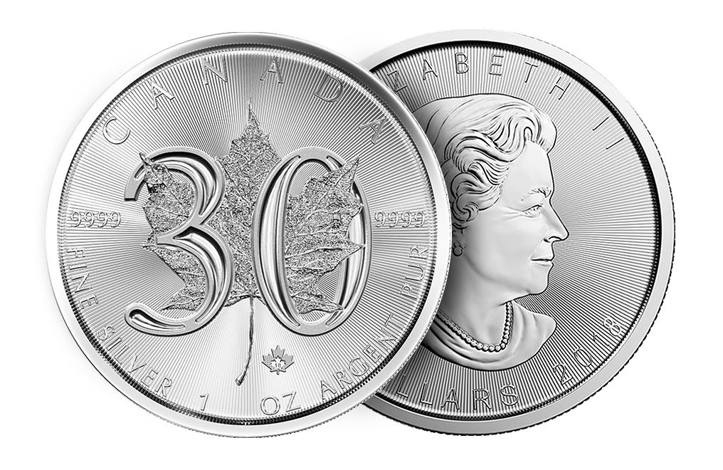 Sell 1 oz Silver Maple Leaf Coins - 30th Anniversary, image 2