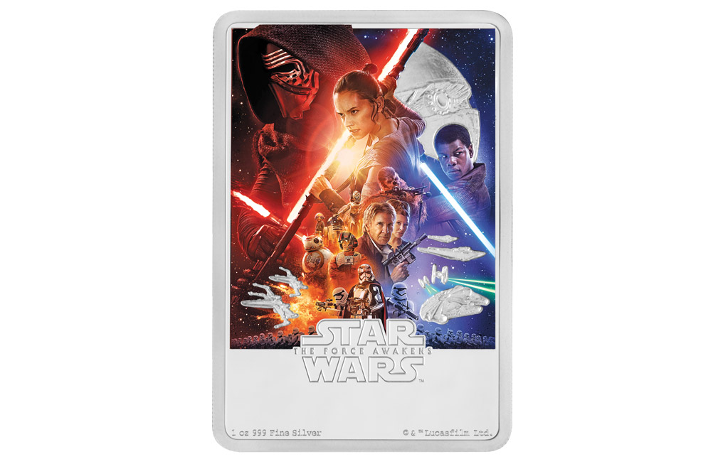 Buy 1 oz Silver Coin .999 - Star Wars: The Force Awakens, image 0