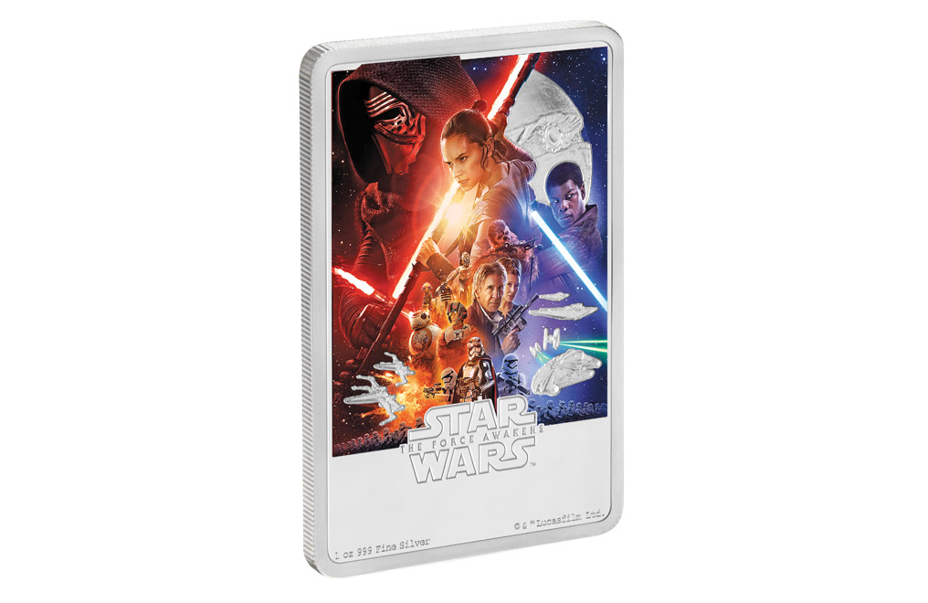 Buy 1 oz Silver Coin .999 - Star Wars: The Force Awakens, image 2