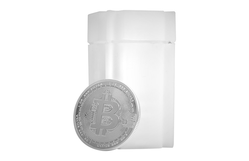 Buy 1 oz Silver Bitcoin Round .999, image 3