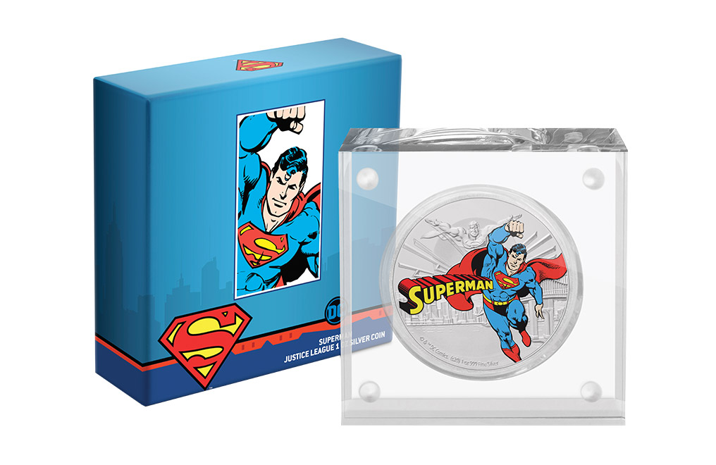 Buy 1 oz Silver Coin .999 - Justice League - Superman (2020), image 4