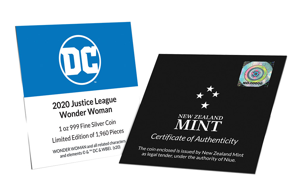 Buy 1 oz Silver Coin .999 - Justice League™- Wonder Woman™, image 5