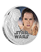 1 oz Silver Coin .999 - Star Wars: The Force Awakens - Rey