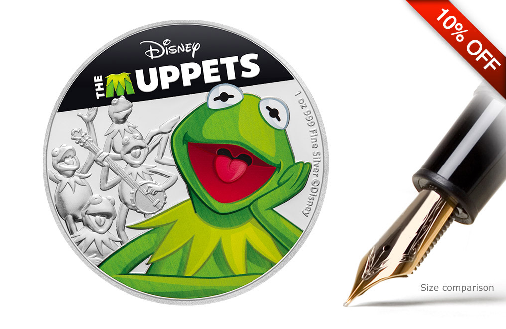 Buy 1 oz Silver Coin .999 - The Muppets - Kermit, image 0