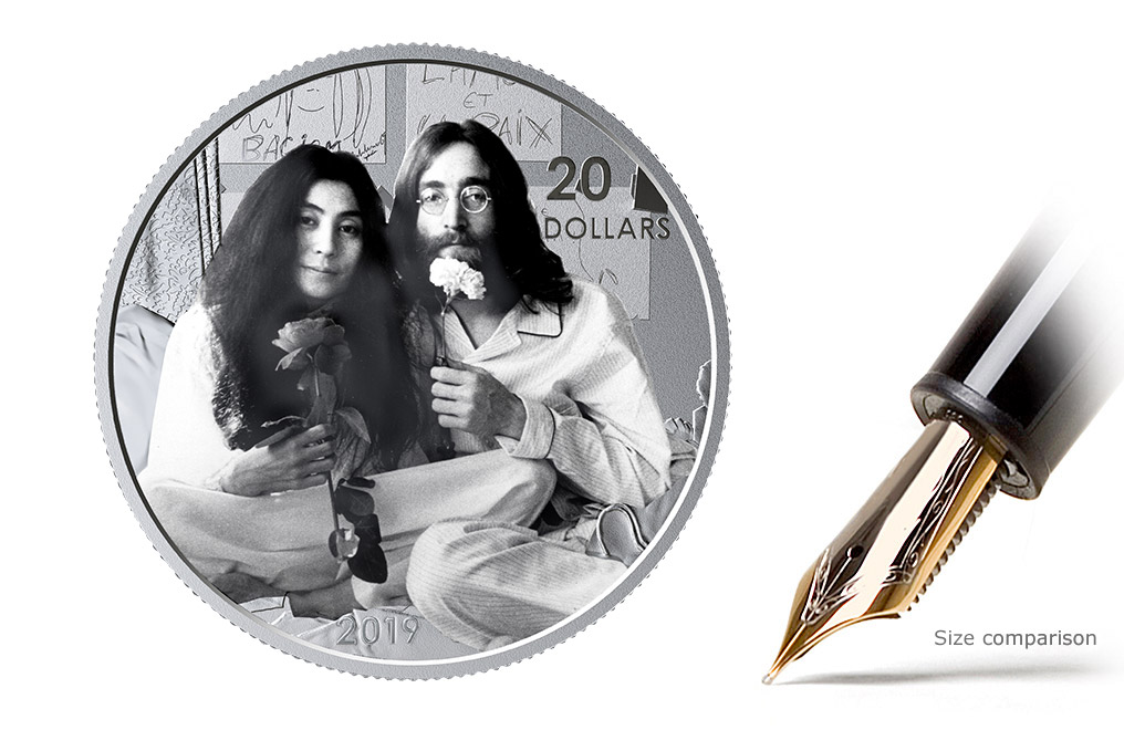 Buy 1 oz Silver Coin .9999 -Give Peace a Chance: 50th Anniversary, image 0