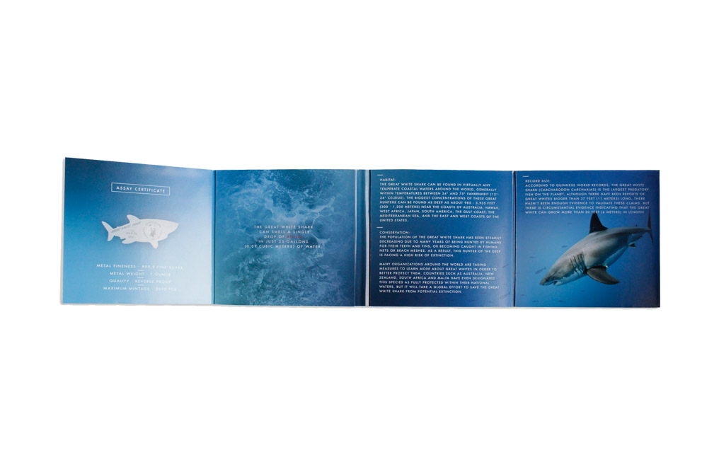 Buy 1 oz Silver Coin .9999 - Great White Shark, image 4