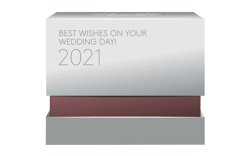 1 oz Silver Coin Best Wishes on Your Wedding Day (2021), image 3
