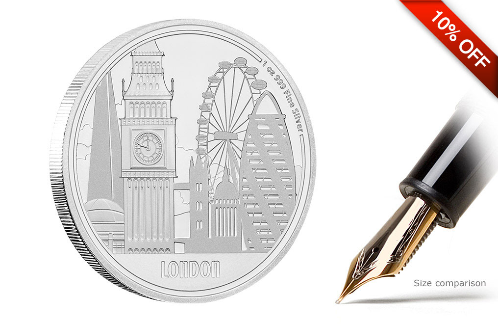 Buy 1 oz Silver Coin Great Cities- London .999, image 3