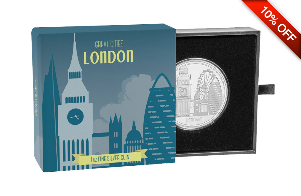 Buy 1 oz Silver Coin Great Cities- London .999, image 4
