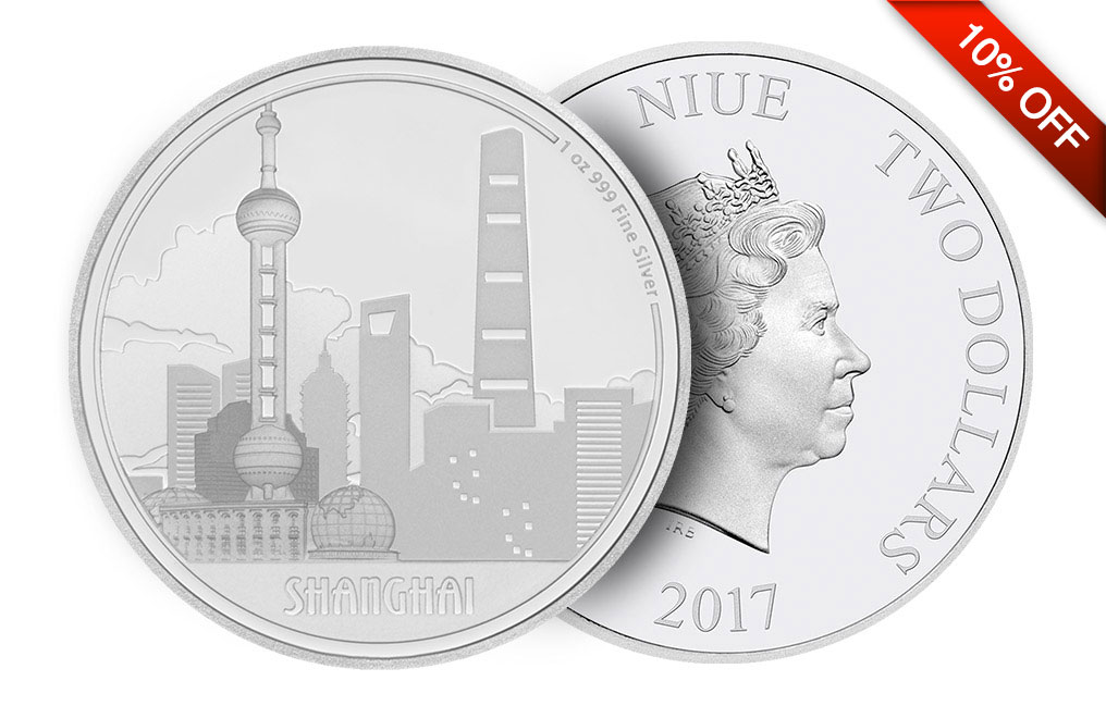Buy 1 oz Silver Coin Great Cities - Shanghai .999, image 2