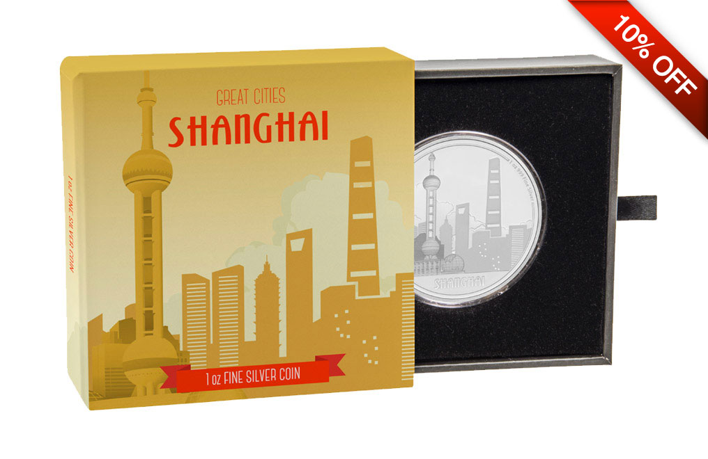 Buy 1 oz Silver Coin Great Cities - Shanghai .999, image 3