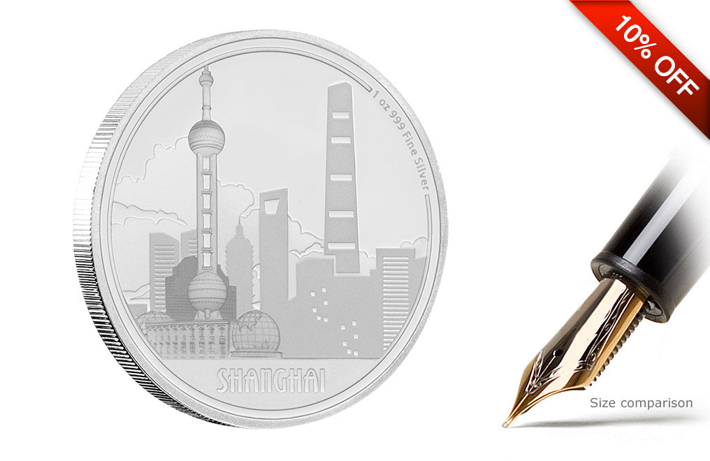 Buy 1 oz Silver Coin Great Cities - Shanghai .999, image 4