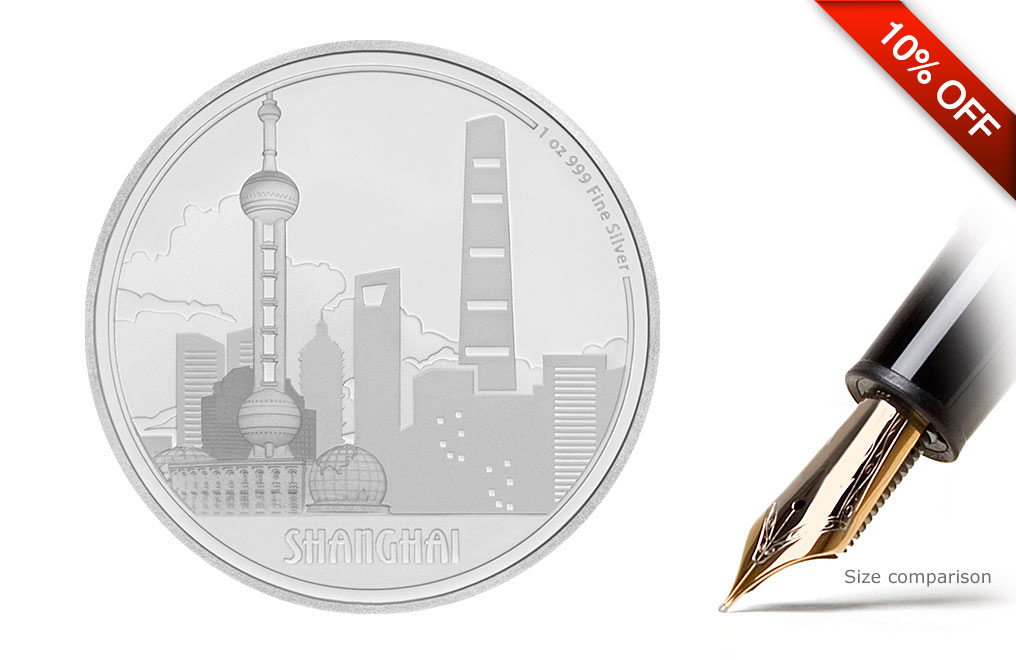 Buy 1 oz Silver Coin Great Cities - Shanghai .999, image 0
