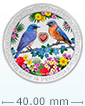 1 oz Silver Coin .999 - Love is Precious - Bluebirds